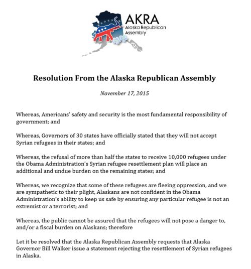 AKRA anti-refugee announcment