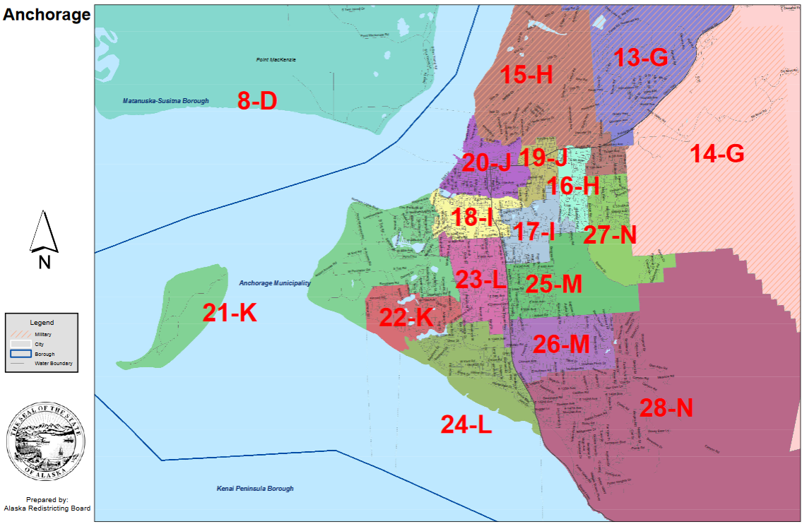 Anchorage House district maps